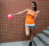 Orange Football Tank